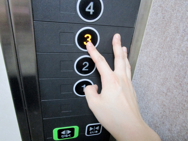 エレベータ階数ボタン