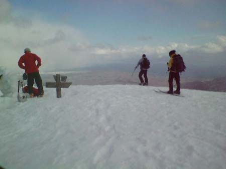 山頂から琵琶湖を望む