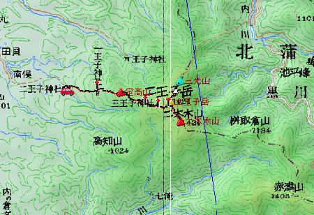 20090605二王子岳地図