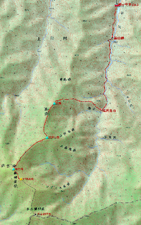20090605御神楽岳地図