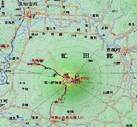 20090716 地図3羊蹄山
