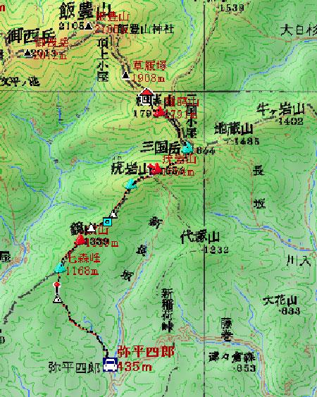 20090806-地図1飯豊連峰