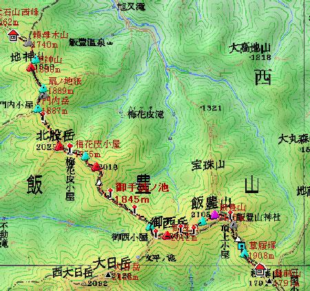 20090806-地図2飯豊連峰
