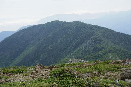 20090820 2笹山(白河内岳より)