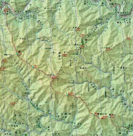 20091114大岳山地図