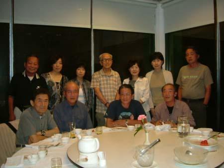 丸山大飯店での夕食(黄さんを囲んで)