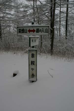 赤鞍ヶ岳山頂