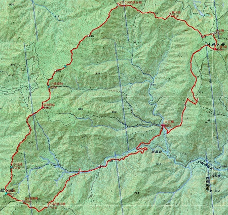 20141206入道・仙ヶ岳地図
