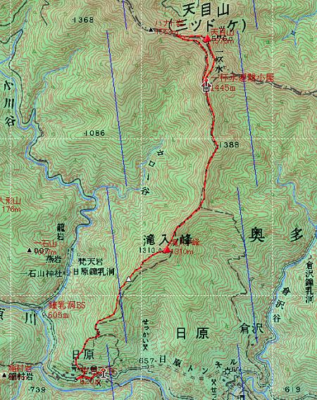 20140320天目山地図1日目