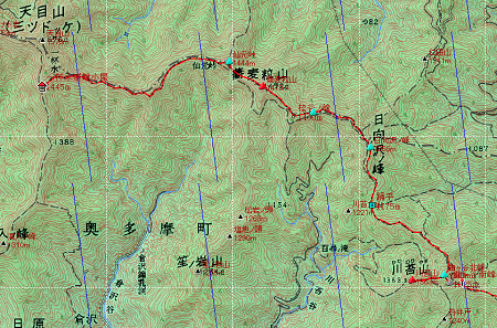 20140320天目山地図2日目①