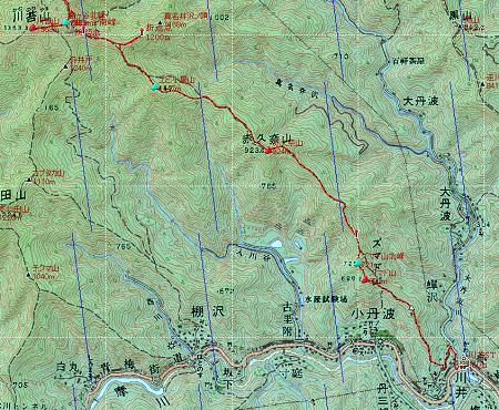 20140320天目山地図2日目②