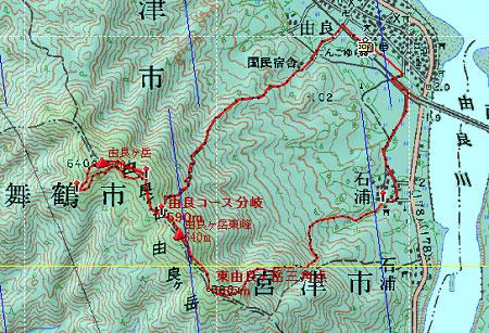 20121103由良ヶ岳地図1