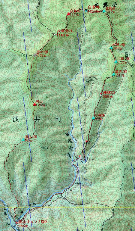 20121118金糞岳地図
