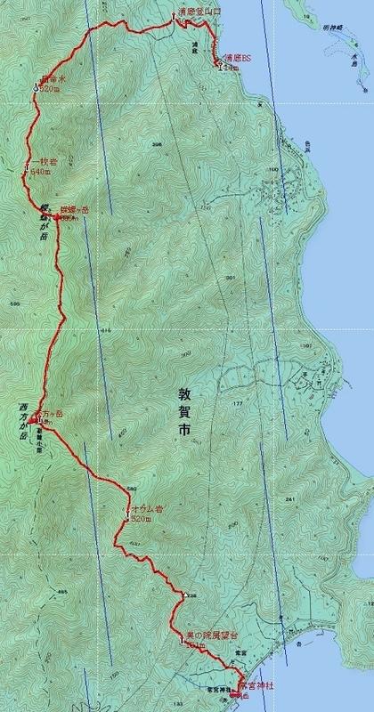 20141011西方ヶ岳地図