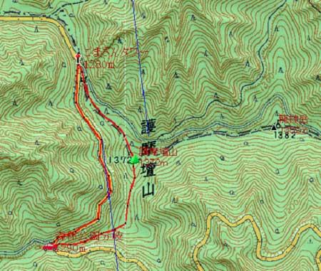 20130914矢筈岳地図2