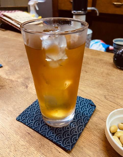 独酌三四郎のとうきび茶