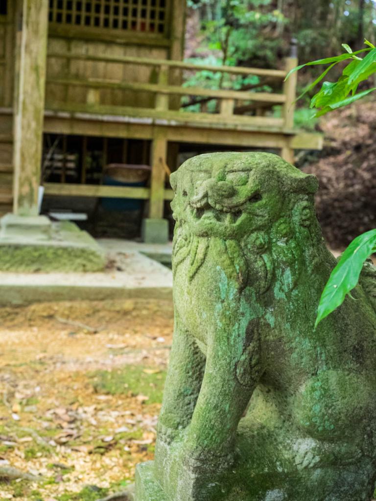 金比羅宮の狛犬・阿形(宿毛市)