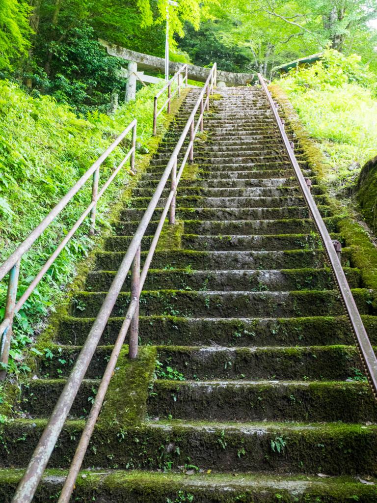 金比羅山参道の階段(西土佐)