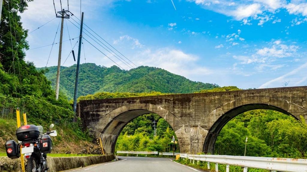 西ケ方駅近くのアーチ橋(高知県西土佐)