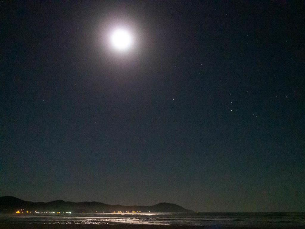 月夜の入野ビーチ