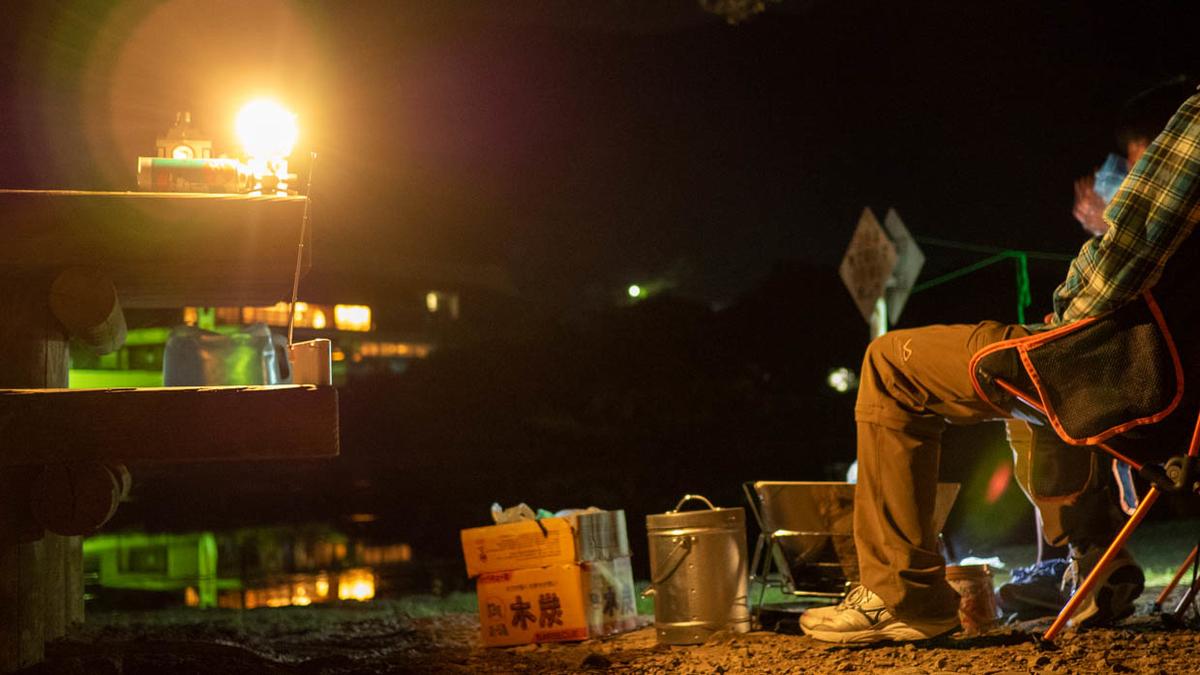 須ノ川公園キャンプ場の夜