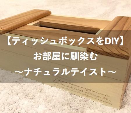 ティッシュボックス【DIY】