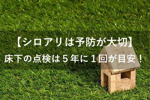 【シロアリ】床下の点検
