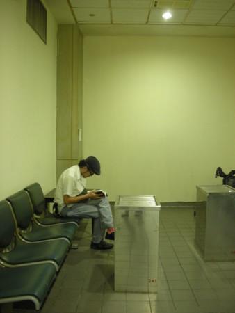 台北の空港にて