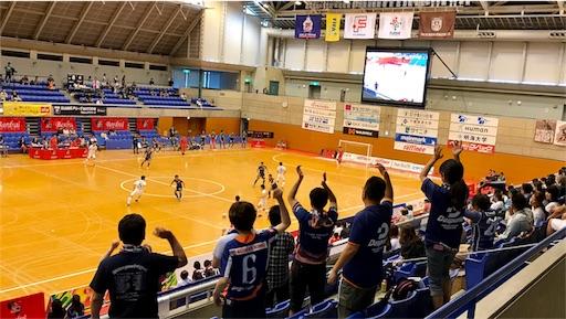 浦安市運動公園総合体育館のピッチ
