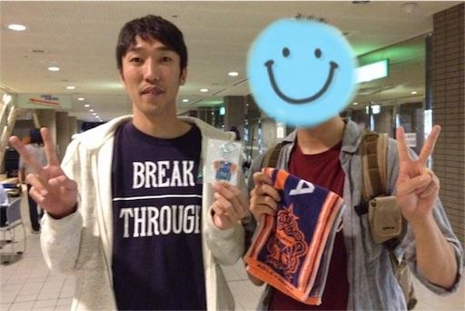 田中充彦選手に100試合記念キーホルダーをプレゼント