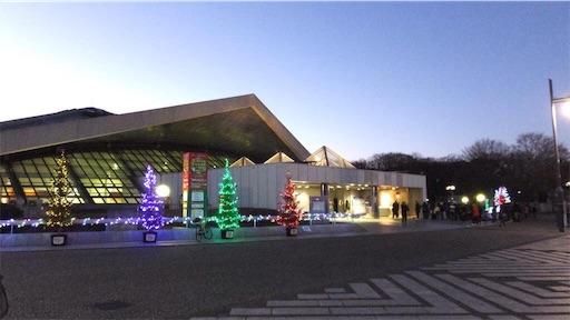 クリスマス前の駒沢オリンピック公園体育館