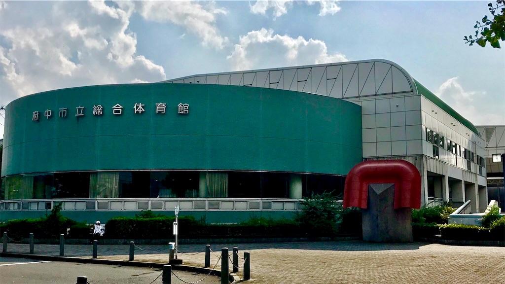 府中市立総合体育館の外観