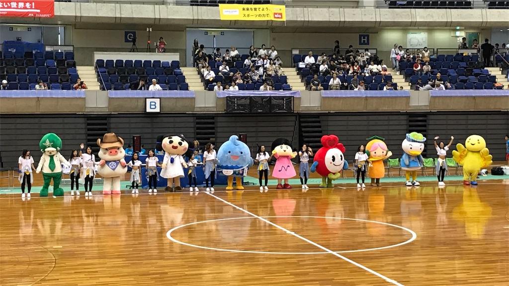 アルコイリスのホームゲームを盛り上げる神戸のゆるキャラたち