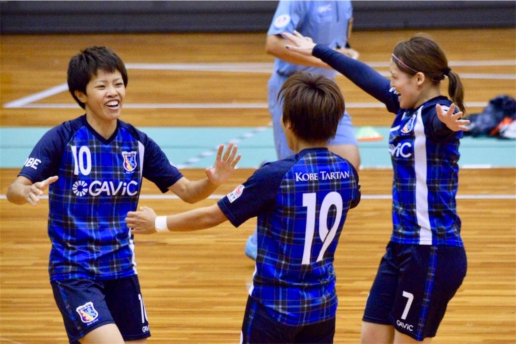 江口未珂の先制ゴールを喜び合うアルコイリスの選手たち