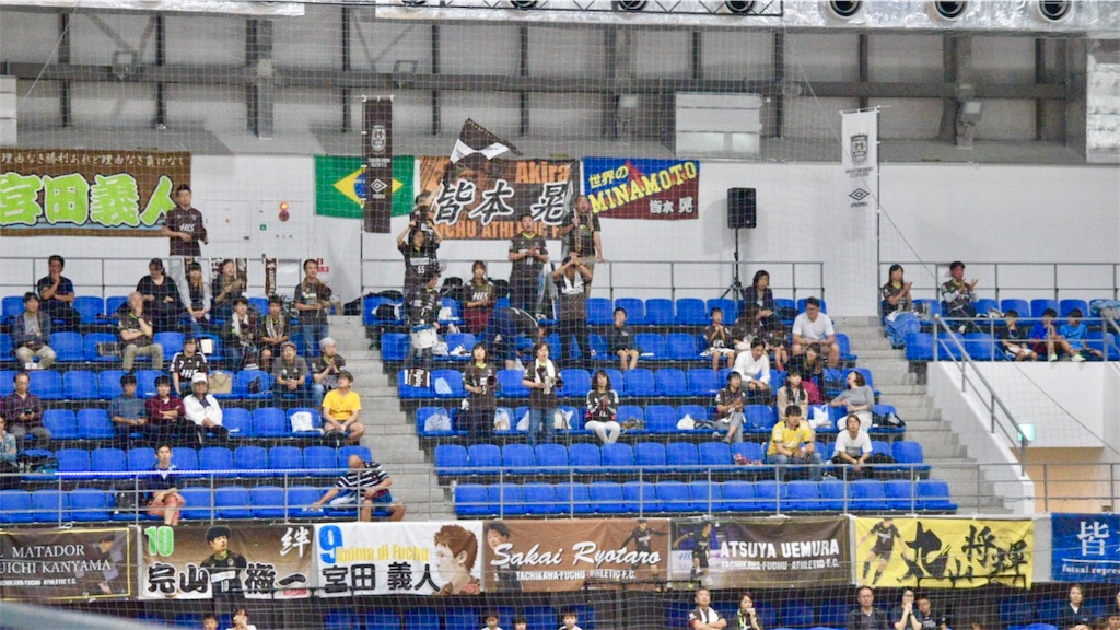 立川府中アスレティックFCのサポーター席