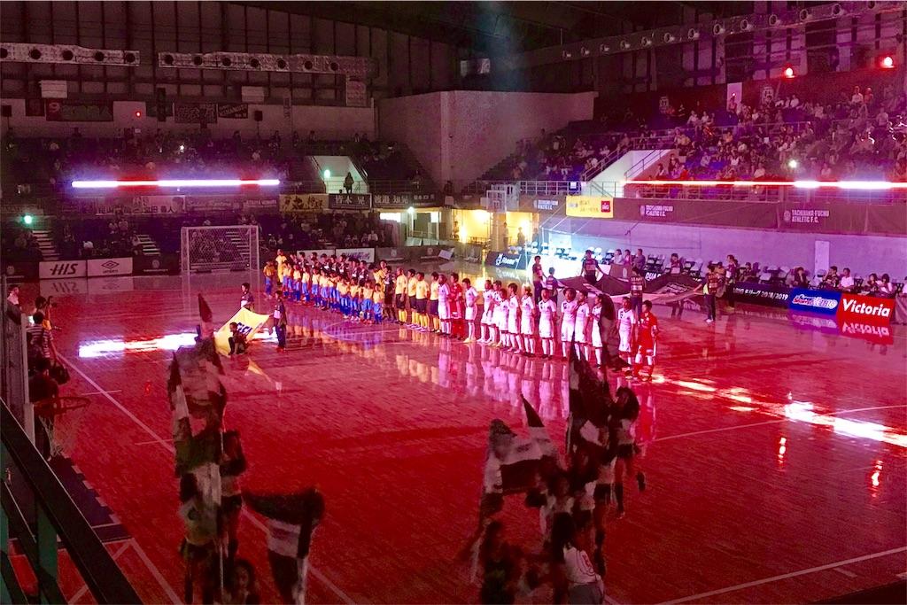 アリーナ立川立飛・Fリーグ開催時の選手入場シーン