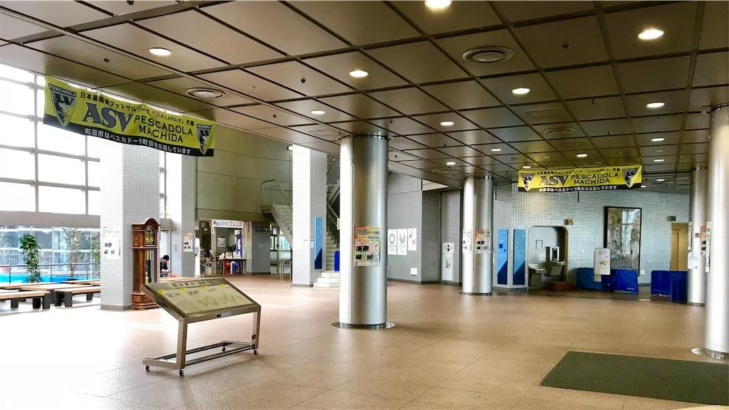 町田市立総合体育館の1階ホール