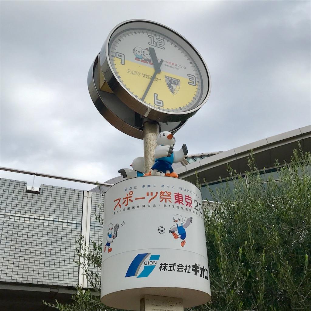 町田市立総合体育館の柱時計