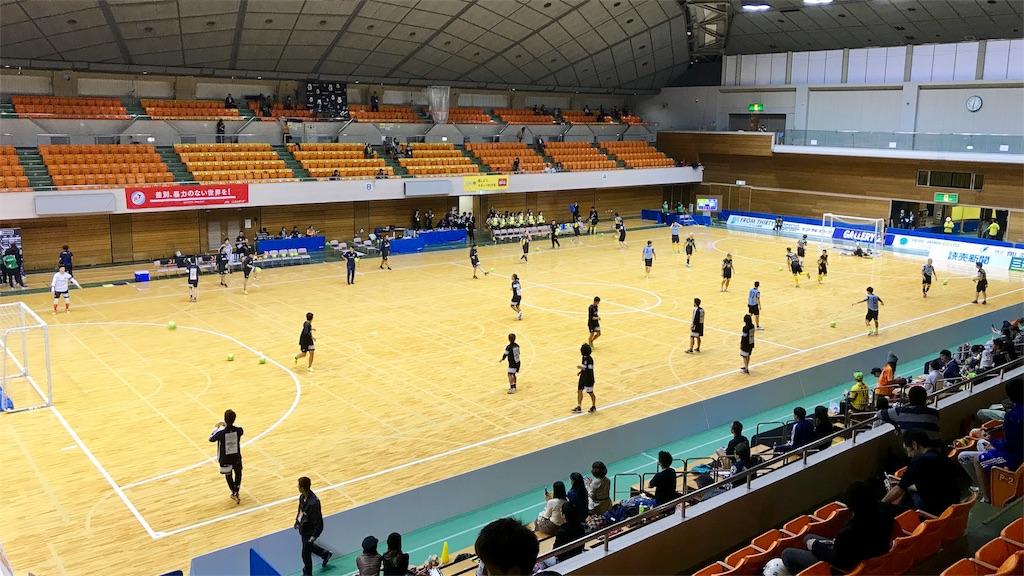 町田市立総合体育館のピッチと観客席②