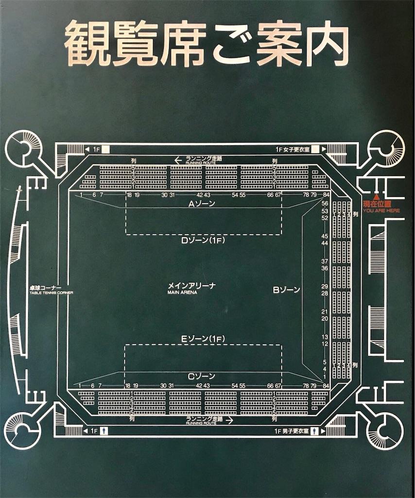 浦安市運動公園総合体育館の座席表②