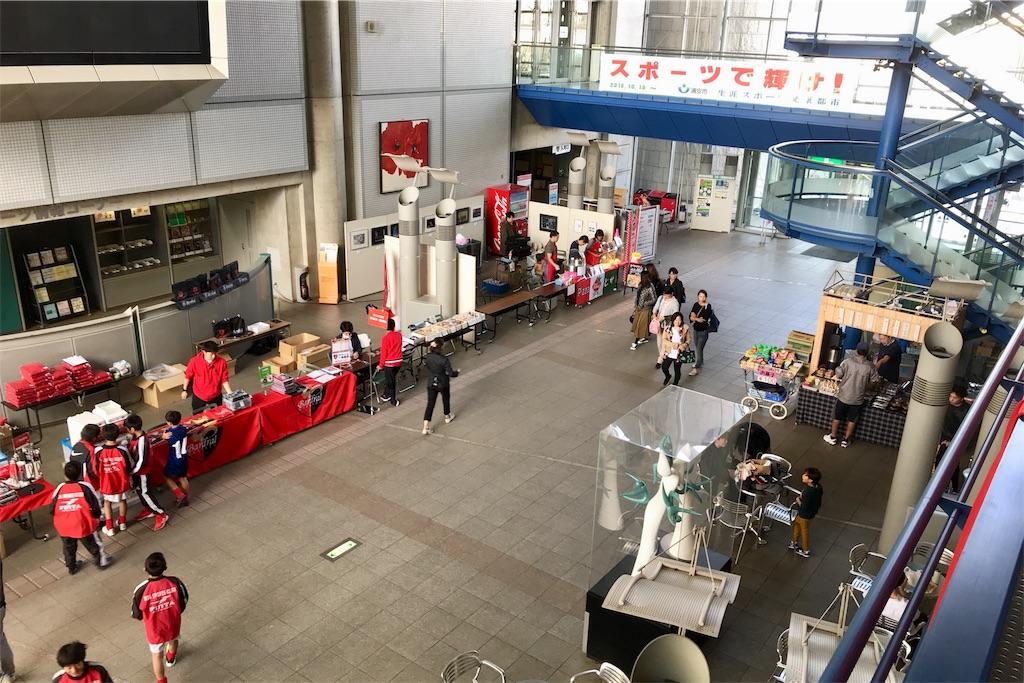 浦安市運動公園総合体育館のロビー