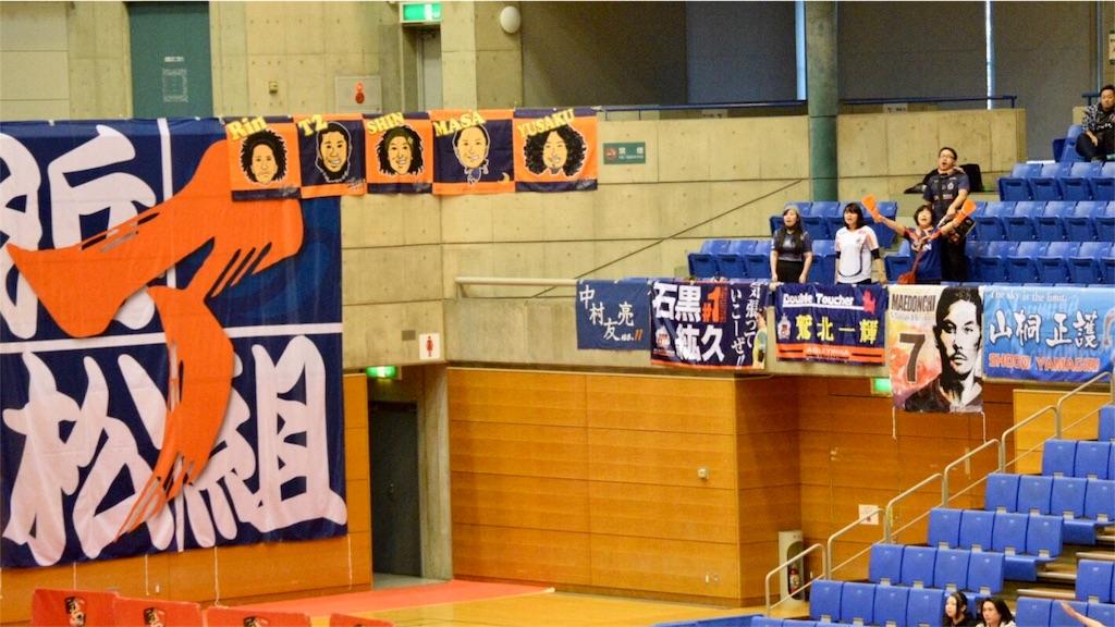 浦安市運動公園総合体育館のサポーター席と横断幕②