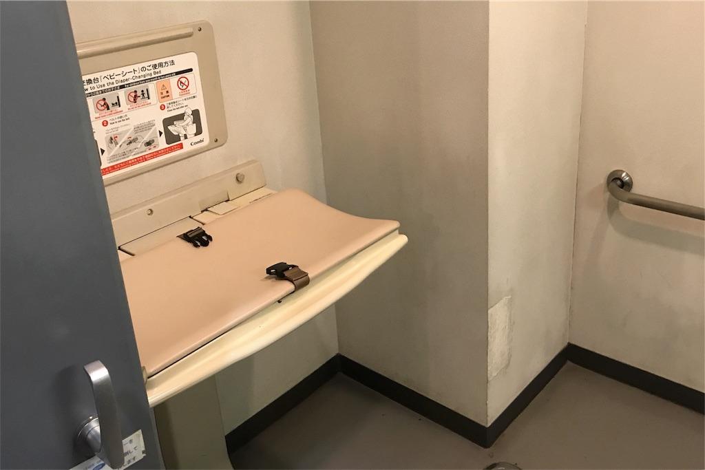 浦安市運動公園総合体育館のおむつ替えシート