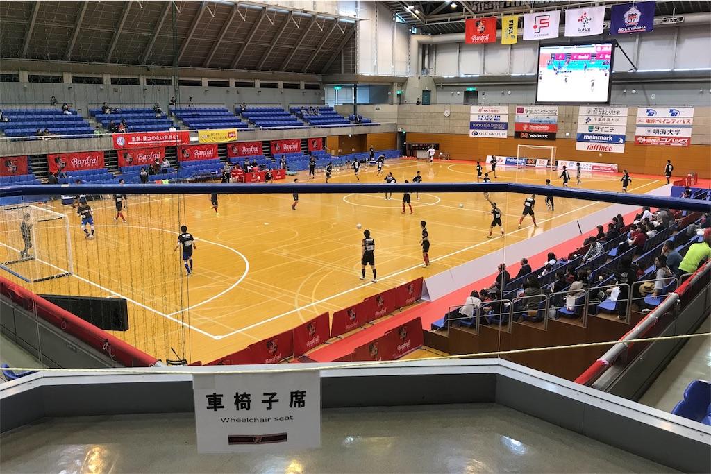 浦安市運動公園総合体育館の車椅子席