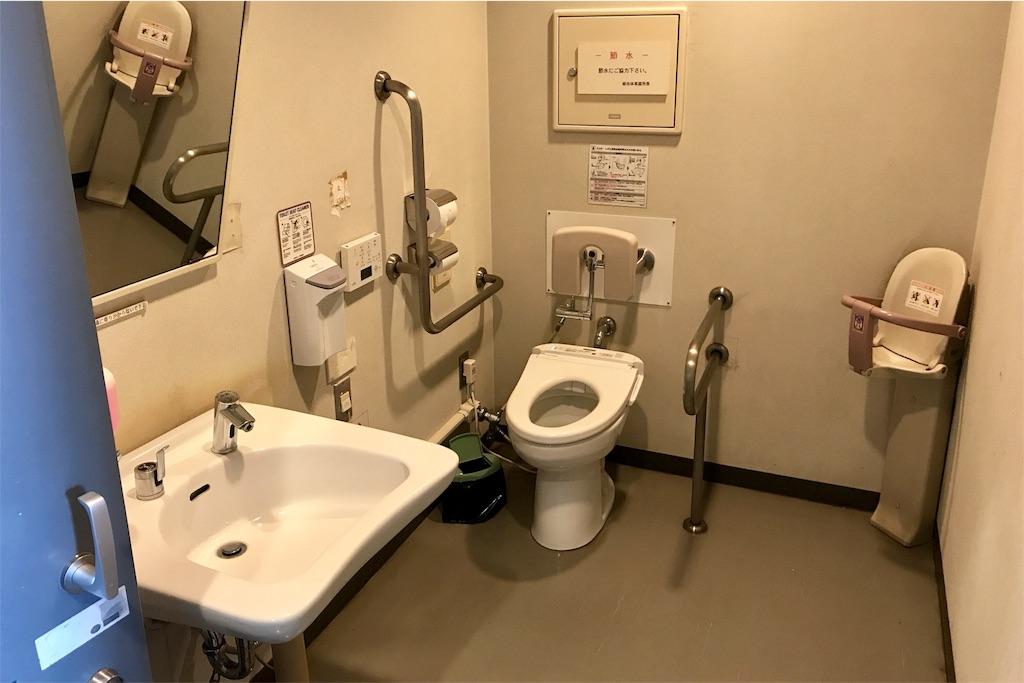浦安市運動公園総合体育館の多目的トイレ