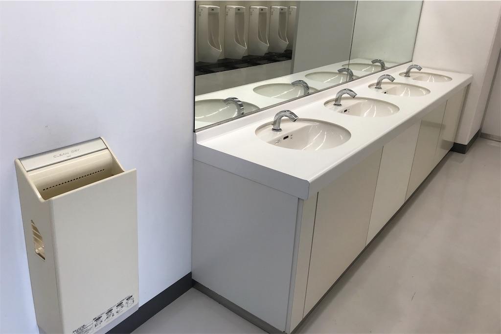オーシャンアリーナのトイレにはジェットタオルあり