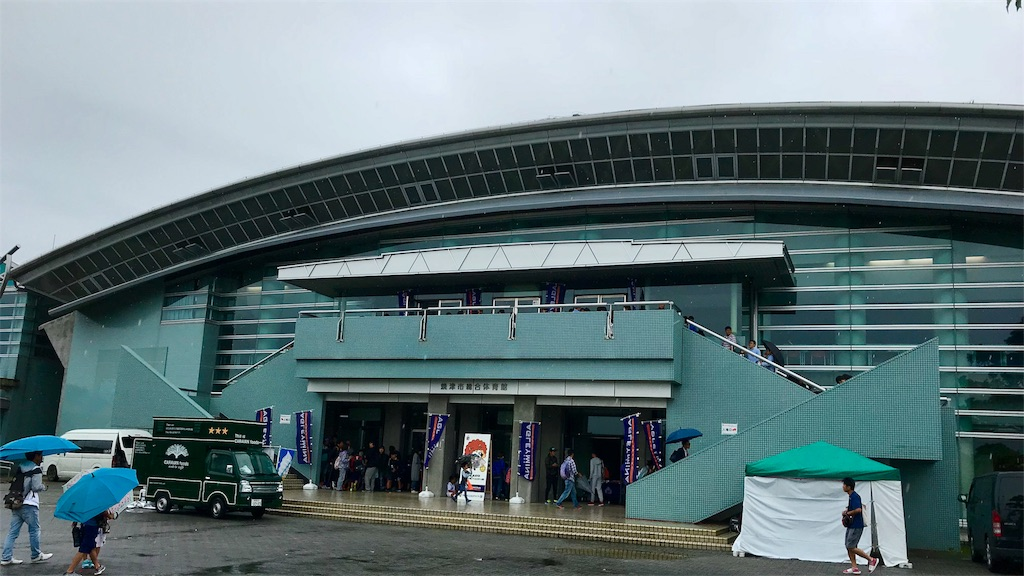 焼津市総合体育館の外観