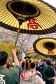 京都新聞写真コンテスト 桜の下の太夫さん