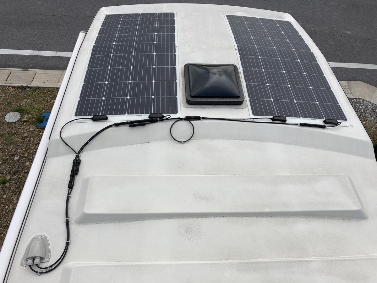 キャンピングカー フレキシブルソーラーパネル  設置 DIY RENOGY