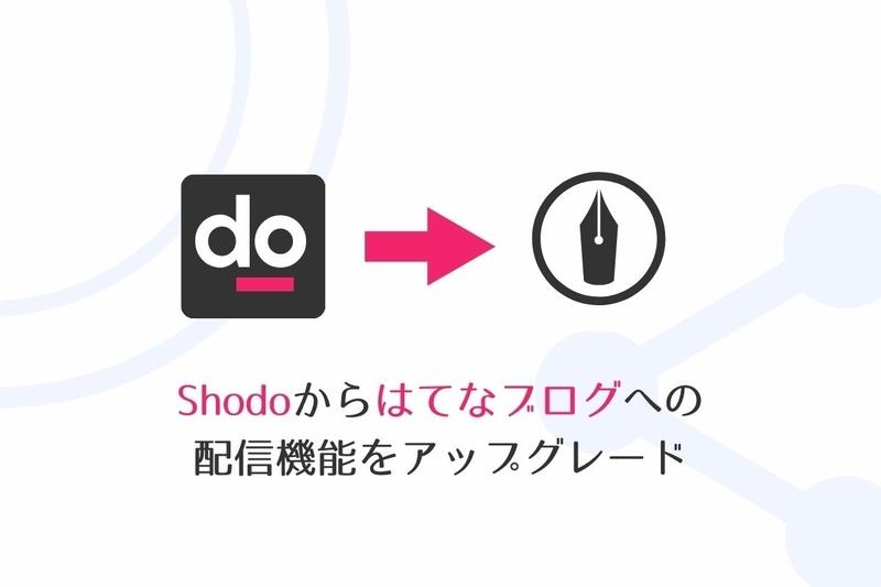 Shodoからはてなブログへ投稿!はてな連携で画像をはてなフォトライフにアップロードする機能を追加しました